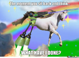 Lazer Meme - super hydro powered space lazer shooting unicorn by recyclebin