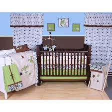Nursery In A Bag Crib Bedding Set Bacati Camo Airplanes Blue Green 10 Boys Nursery