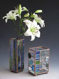 Stained Glass Vase Sunflower Glass Studio Vases