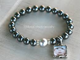black pearl charm bracelet images Hand made photo charm bracelet with shiny black hematite beads by jpg