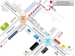 Metro Station In Dubai Map by Dubai Location Map Premiers International