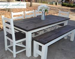 chunky farmhouse table legs farmhouse table etsy