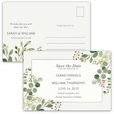 wedding save the date postcards save the date postcards greenery watercolor eucalyptus
