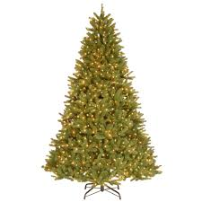 national tree company 9 ft feel real grande fir hinged artificial