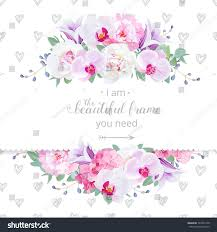 wedding backdrop design vector wedding floral vector design horizontal card stock vector
