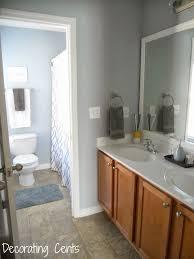 Bathroom Bathroom Paint Colors Blue Decorating Cents Hall Bathroom Is Done