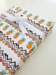 themed wrapping paper retro pineapple wrapping paper fruit themed house warming gift