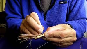 making a pine needle basket youtube