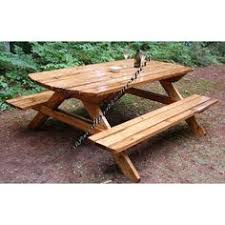 Free Plans Round Wood Picnic Table by Picnic Table With Center Cooler I Made Pinterest Picnic
