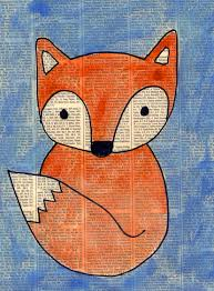 fox painting on newspaper art projects for kids
