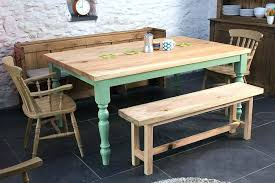 country kitchen table with bench rustic farmhouse kitchen table sets ideas country farmhouse kitchen