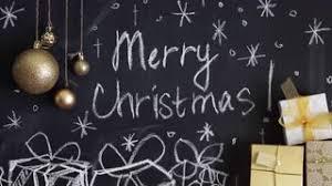chalkboard background for merry celebration stock