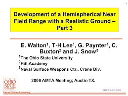 electroscience laboratory 1 development of a hemispherical near
