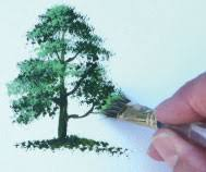 how to paint a tree using acrylic paints by terry harrison more