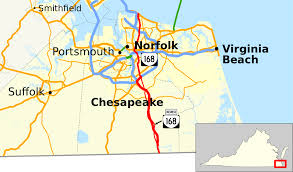 Virginia Beach Map Of Hotels by Virginia State Route 168 Wikipedia
