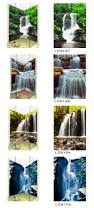 Waterfall Glass Tile 2015 Seaside Scenery Style Micro Crystal Porcelain 3d Glass Tile