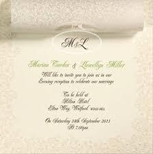 marriage invitation sle simple marriage invitation letter wedding invitation