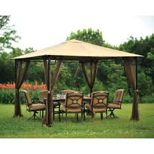 Sunjoy Tiki Gazebo by Amazon Com Living Accents 10ft X 10ft Gazebo Netting Gazebo