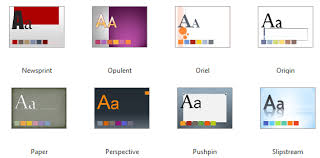 a metro themed powerpoint template