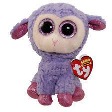 ty beanie boos babies lavender lamb easter basket gift stuffed