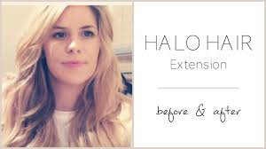 Before After Hair Extensions halo hair extension deluxe review before after styling youtube