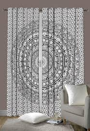 Bohemian Drapes Hippie Room Mandala Curtain Bohemian Window Curtains Drapes India Tape