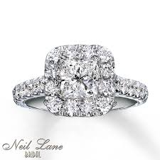 2 carat white gold engagement ring neil engagement ring 2 ct tw diamonds 14k white gold