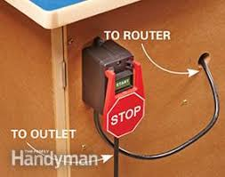 table saw safety switch diy router table plans the family handyman
