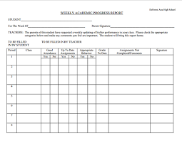 academic progress report template finest academic weekly progress report template and format sle