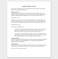 wedding ceremony phlets great wedding ceremony outline template gallery exle resume