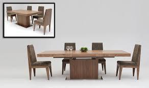 Walnut Dining Room Set Walnut Dining Table With Metal Legs In Arresting Zenith Walnut