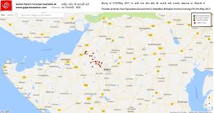 map of rajkot thunder activity rajkot vicinity evening of 17th may 2017
