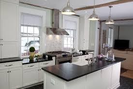 astounding federal style kitchen with white wooden kitchen