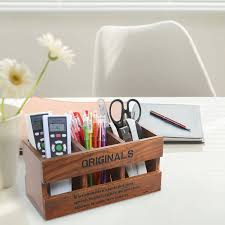 Revolving Desk Organizer by Amazon Com Mygift Rustic Wood Desk Organizer 3 Compartment