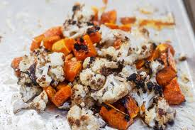 roasted butternut squash and cauliflower salad with lemon honey