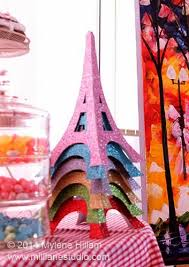 Eiffel Tower Table Centerpieces Mill Lane Studio Party Decorations Glittery Eiffel Tower Table