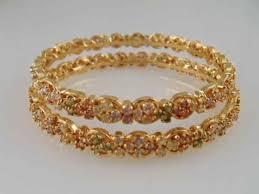 multi colored gold bracelet images Gemstone bangles JPG