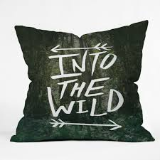 Designer Throw Pillows For Sofa by Leah Flores Into The Wild Throw Pillow Deny Designs Home Accessories