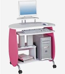 Small Rolling Computer Desk Small Pink And White Rolling Computer Desk Computer Desks