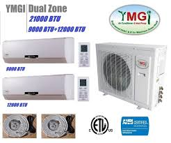 ductless mini split air conditioner ymgi 21000btu 9000 12000 dual zone ductless mini split air