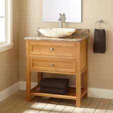 black stained wooden bathroom vanity cabinet with rectangle white