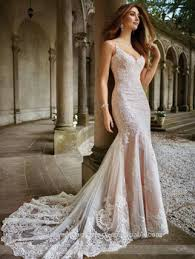 elegant alibaba crystal lace v neck backless mermaid wedding