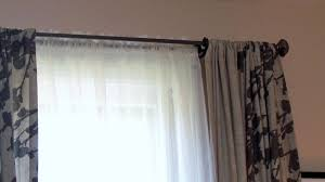decor rustic extra long curtain rods with white grommet curtains