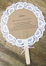 diy fan wedding programs diy wedding crafts doily wedding program fan tutorial diy