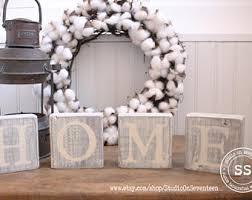 Decorative Letter Blocks For Home Home Letter Blocks Etsy