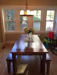 Farm Table Dining Room by Solid Wood Farmhouse Style Table With Breadboards And Tapered Legs