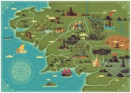 a map of middle earth middle earth interactive map thinglink