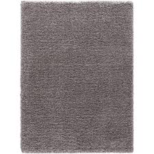 Concord Global Area Rugs Concord Global Trading Shag Plain Silver 7 Ft 10 In X 10