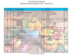 october 2017 calendar month