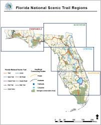 Map Of Ocala Fl Florida National Scenic Trail About The Trail